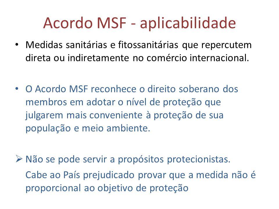 Acordo MSF - aplicabilidade