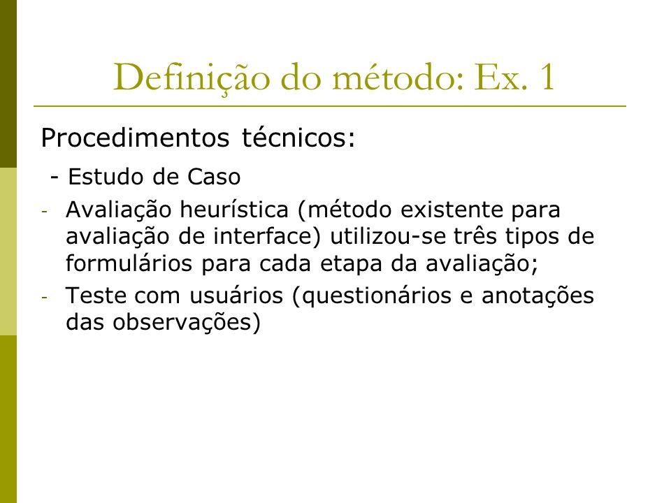 Definição do método: Ex. 1