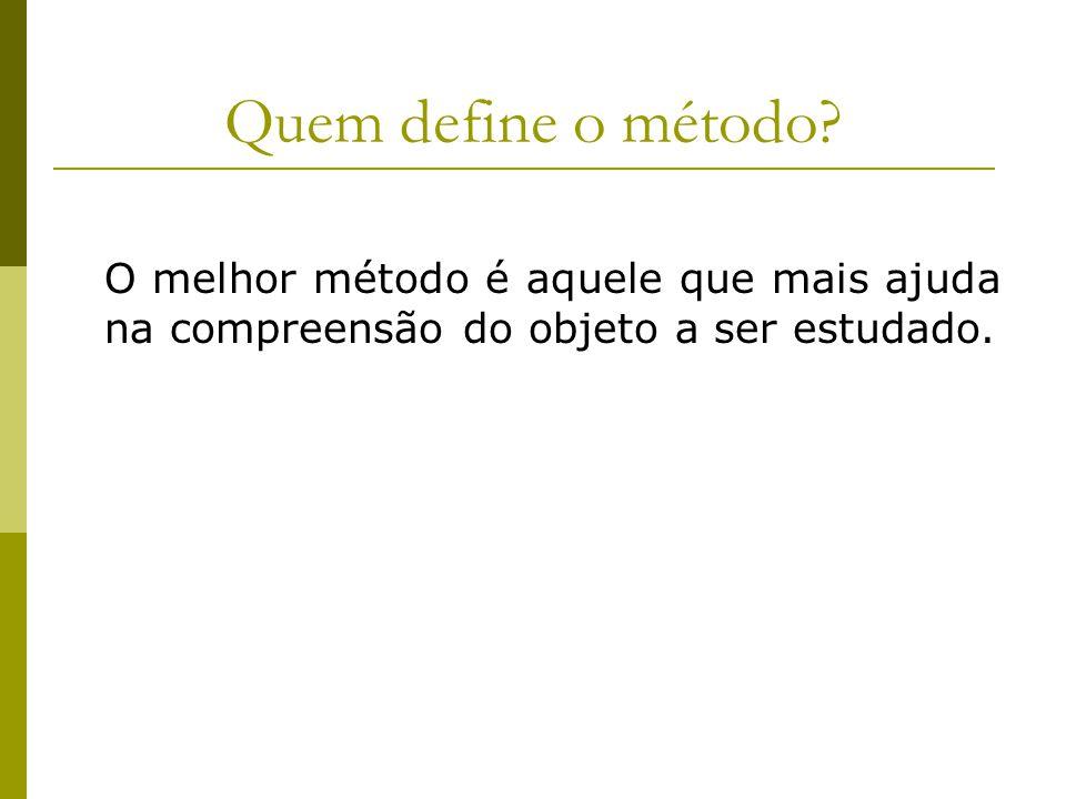Quem define o método.