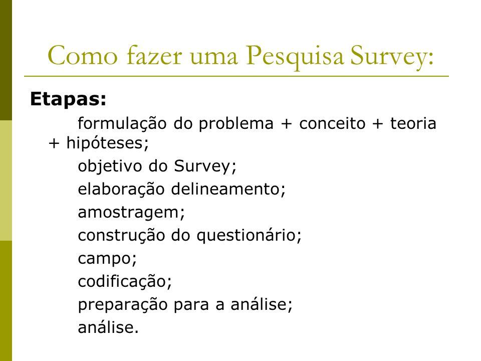 Como fazer uma Pesquisa Survey: