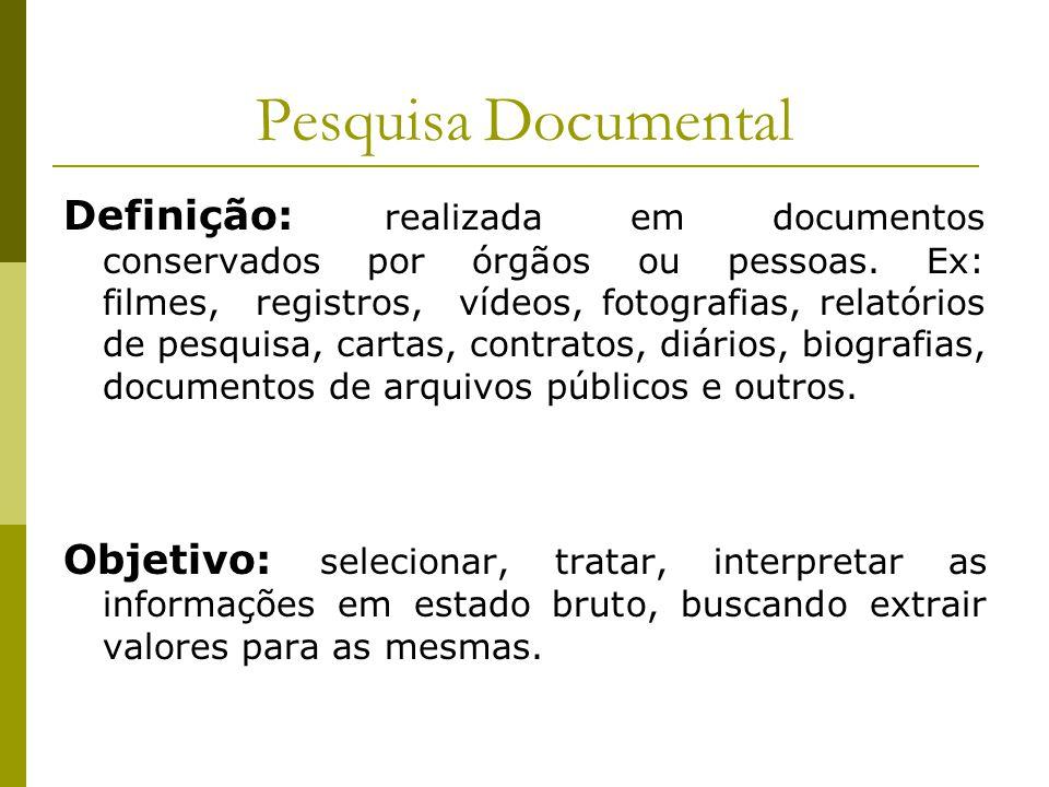 Pesquisa Documental
