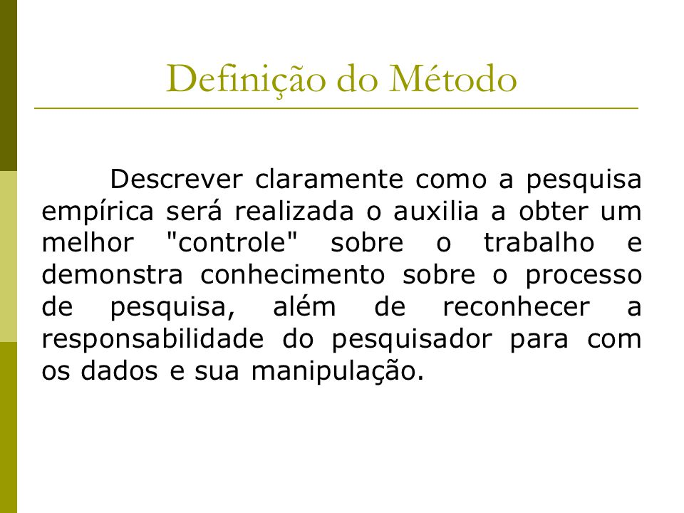 Definição do Método