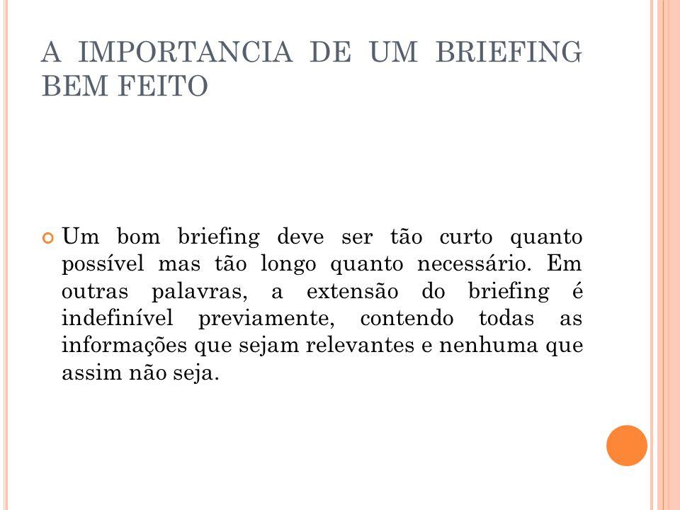 A IMPORTANCIA DE UM BRIEFING BEM FEITO