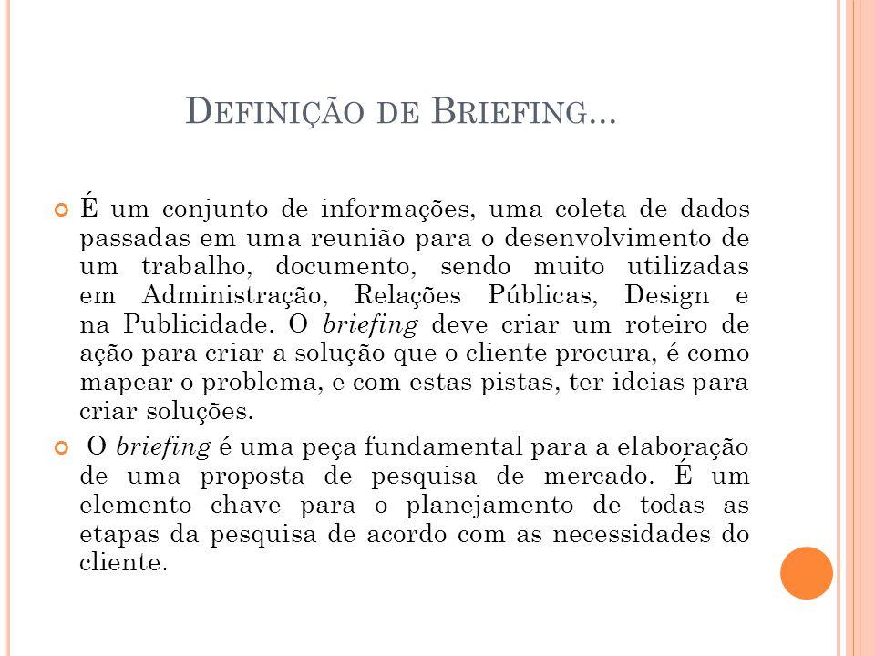 Definição de Briefing...