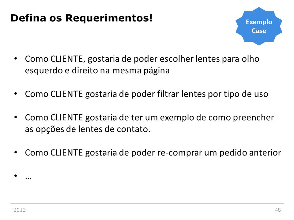 Classifique os Requerimentos!