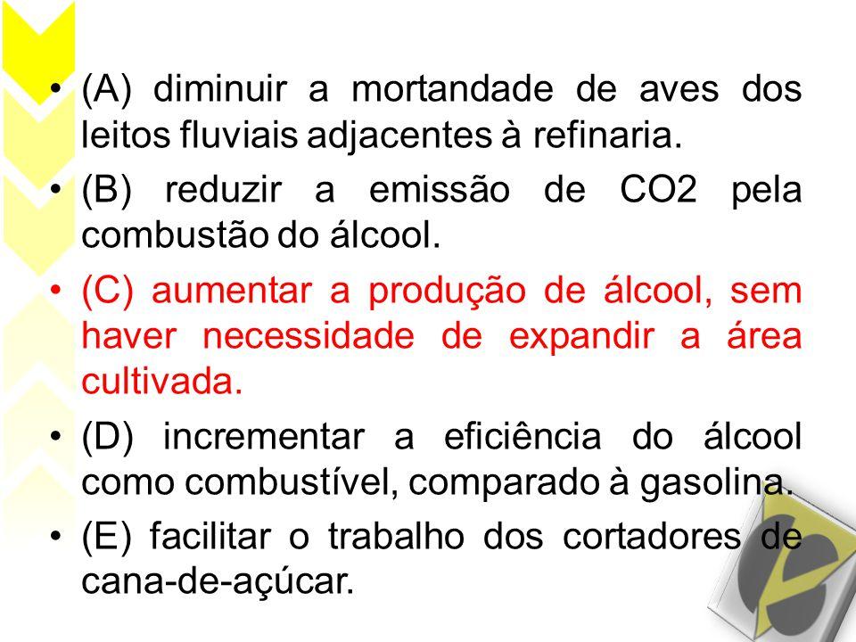 (A) diminuir a mortandade de aves dos leitos fluviais adjacentes à refinaria.