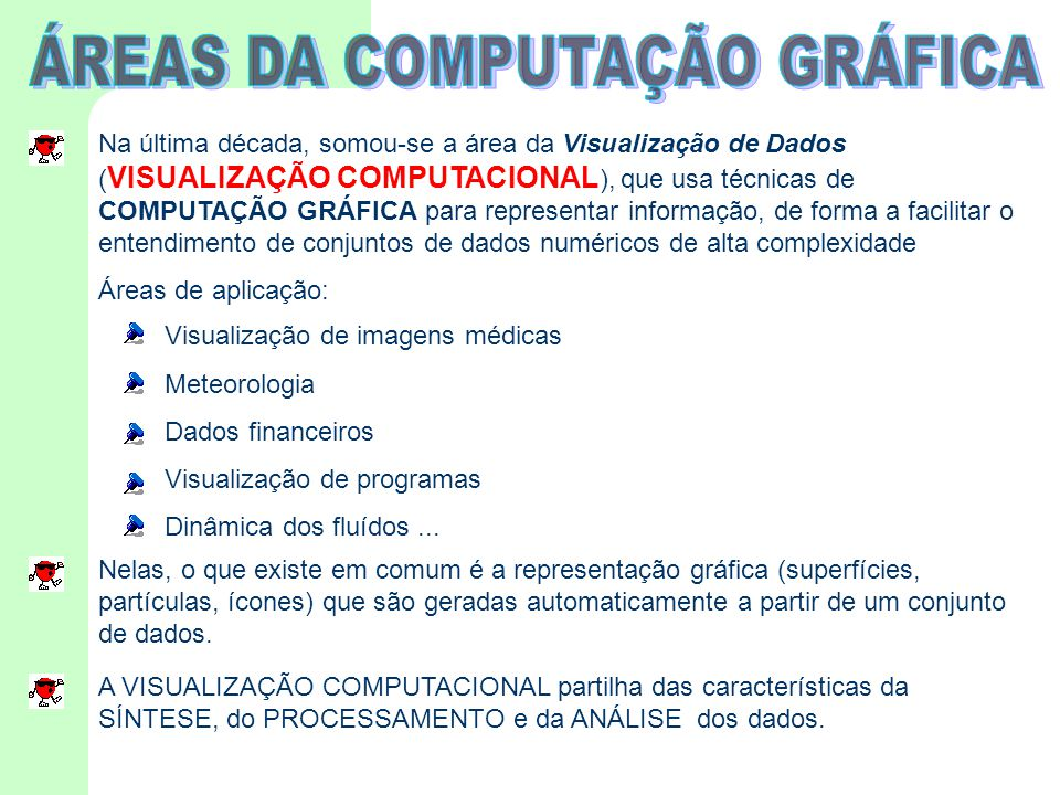 ÁREAS DA COMPUTAÇÃO GRÁFICA