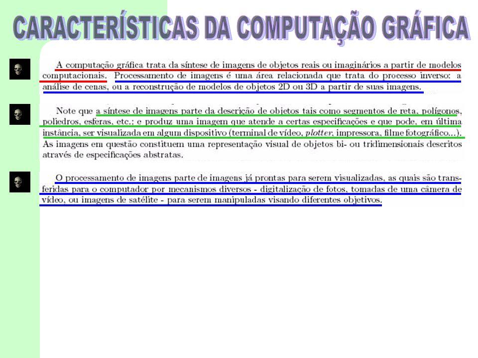 CARACTERÍSTICAS DA COMPUTAÇÃO GRÁFICA