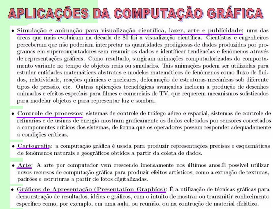 APLICAÇÕES DA COMPUTAÇÃO GRÁFICA