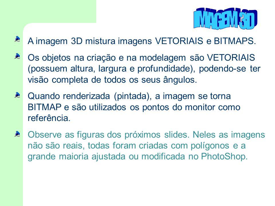 IMAGEM 3D A imagem 3D mistura imagens VETORIAIS e BITMAPS.