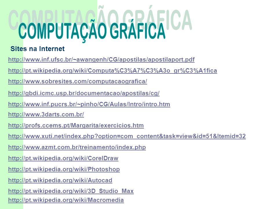COMPUTAÇÃO GRÁFICA Sites na Internet