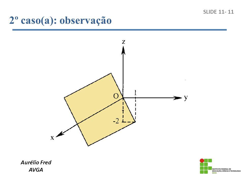 2º caso(a): observação SLIDE 11- 11 Aurélio Fred AVGA