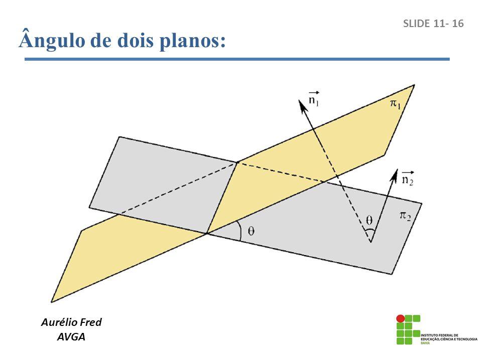 Ângulo de dois planos: SLIDE 11- 16 Aurélio Fred AVGA