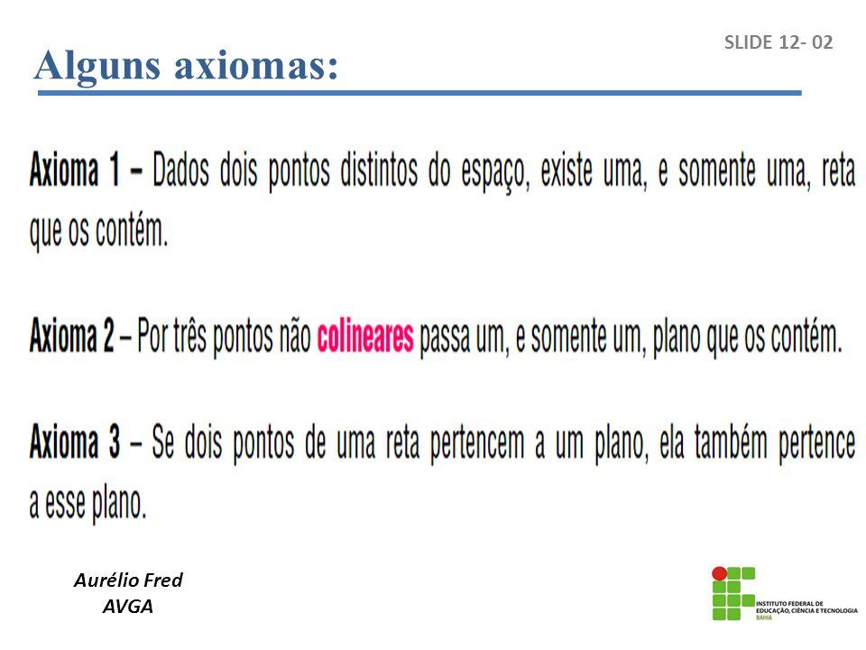 Alguns axiomas: SLIDE 12- 02 Aurélio Fred AVGA
