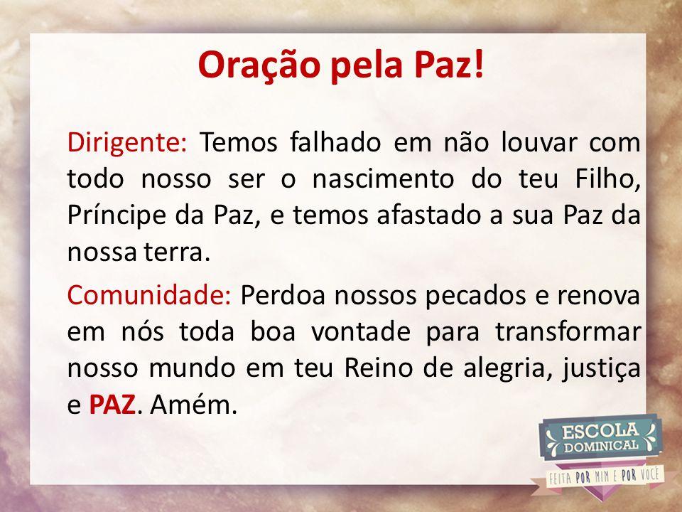 Oração pela Paz!