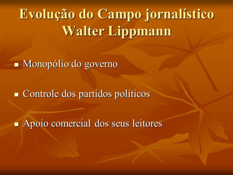 Evolução do Campo jornalístico Walter Lippmann