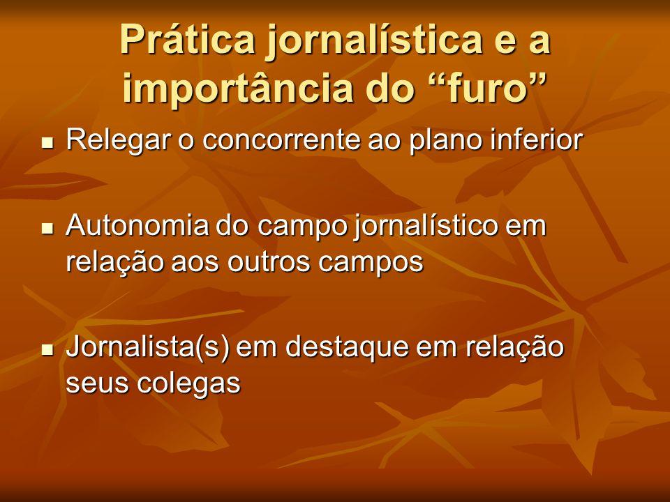 Prática jornalística e a importância do furo