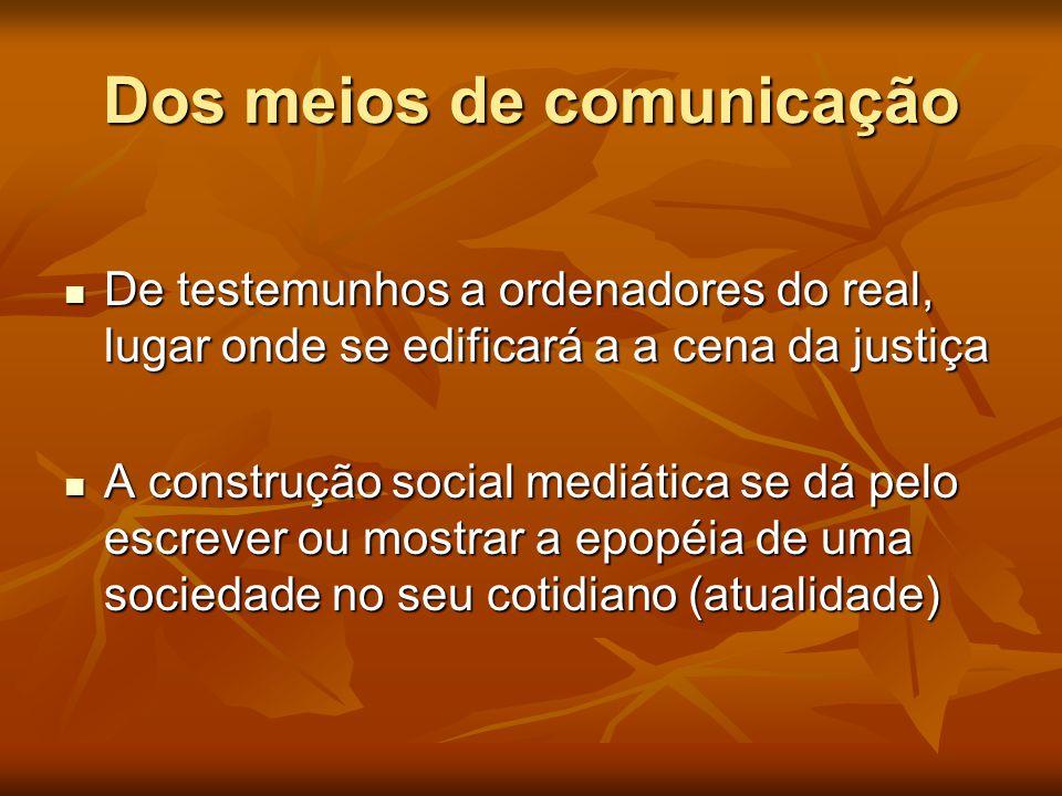 Dos meios de comunicação