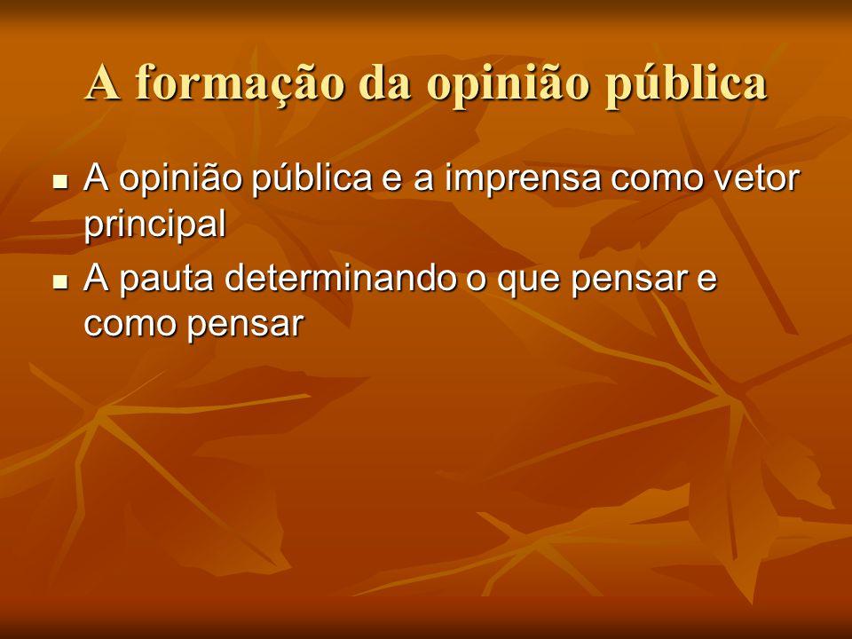 A formação da opinião pública