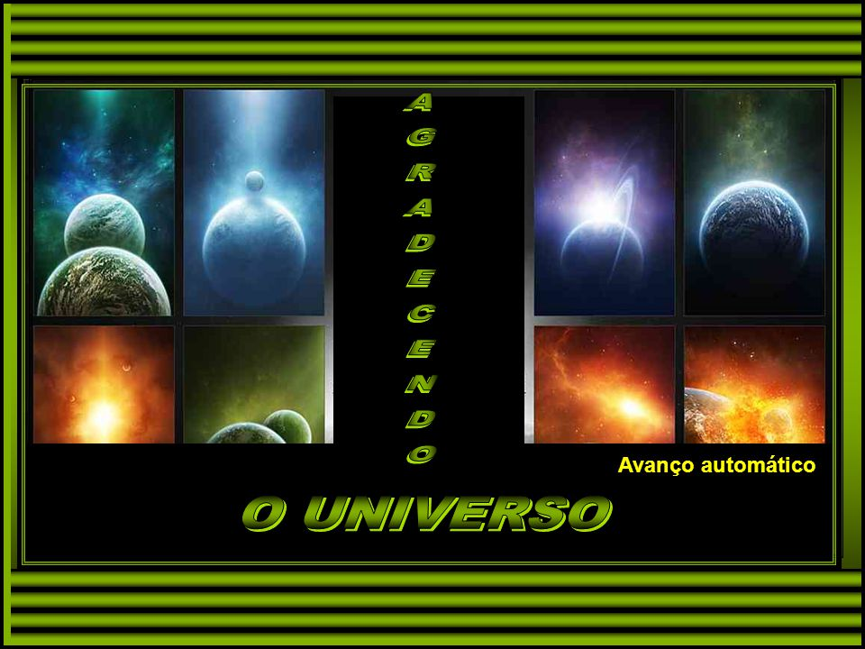 AGRADECENDO O UNIVERSO