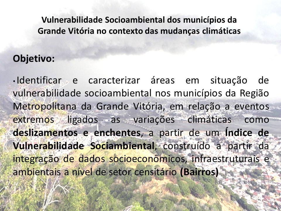 Vulnerabilidade Socioambiental dos municípios da Grande Vitória no contexto das mudanças climáticas