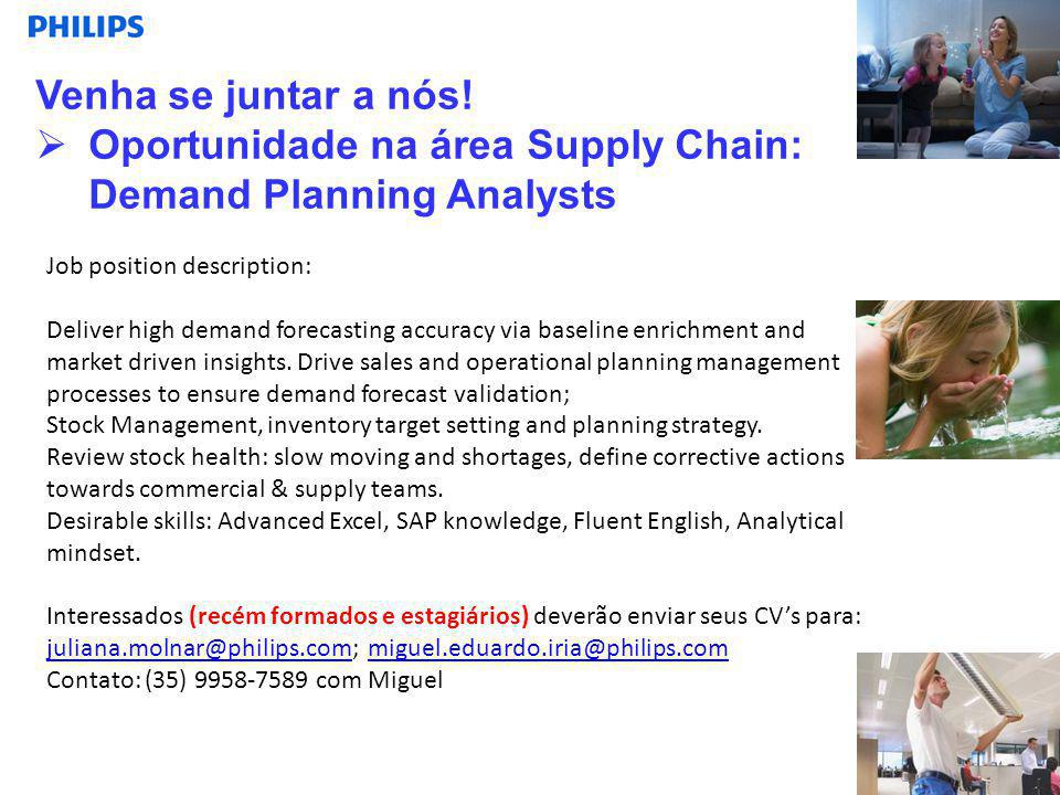 Oportunidade na área Supply Chain: Demand Planning Analysts