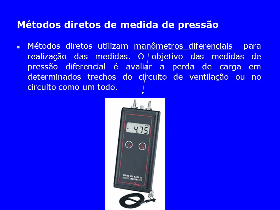 Métodos diretos de medida de pressão