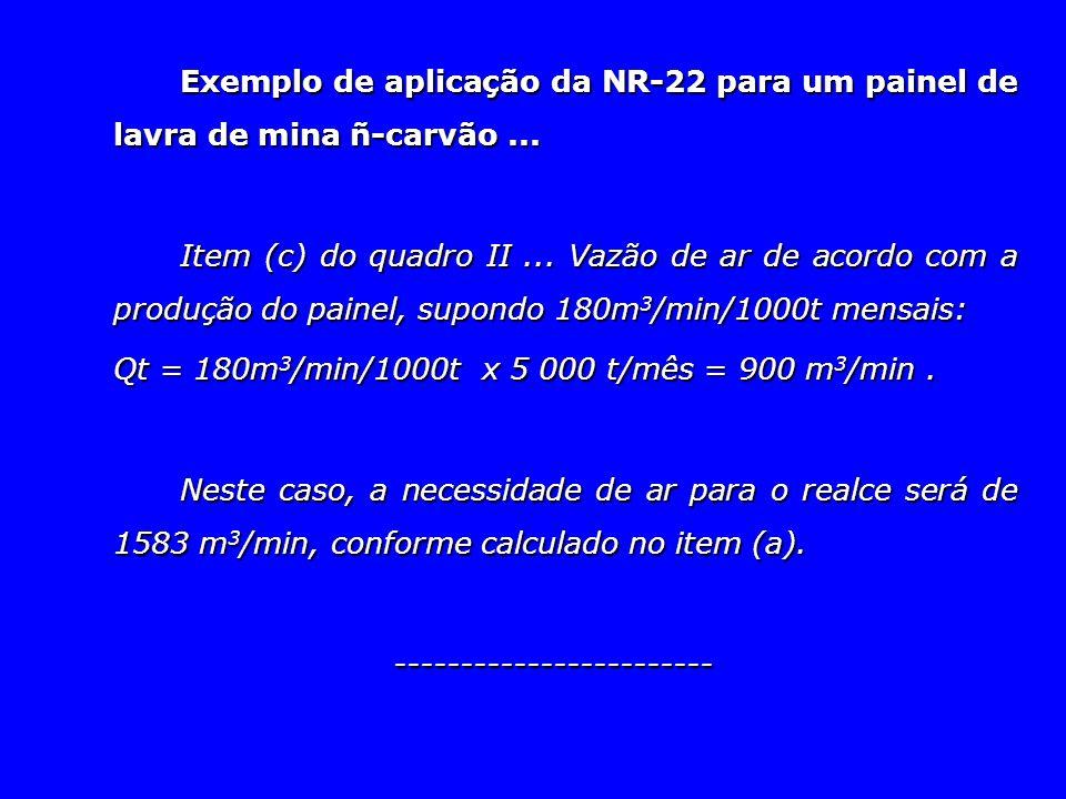 Exemplo de aplicação da NR-22 para um painel de lavra de mina ñ-carvão ...