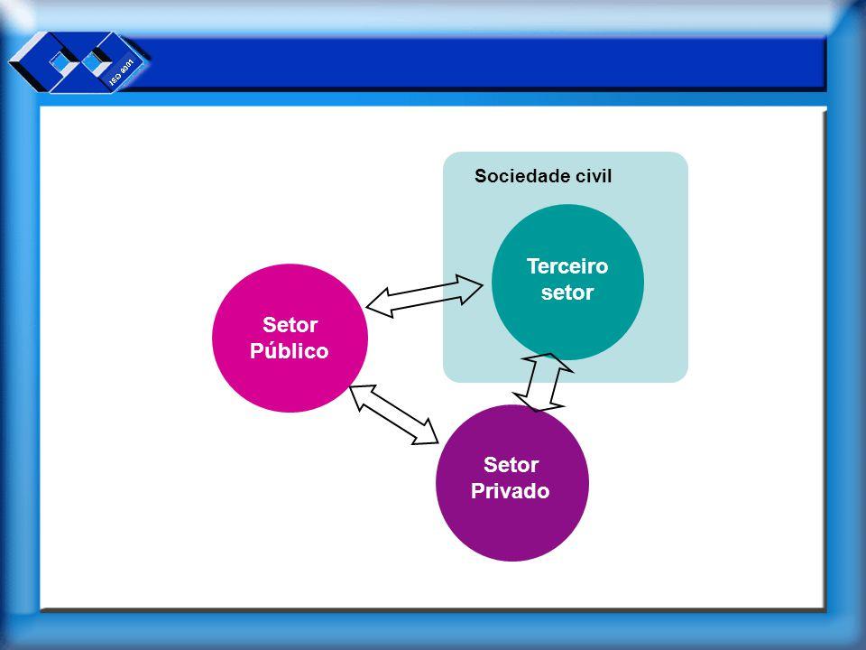 Terceiro setor Setor Privado Setor Público