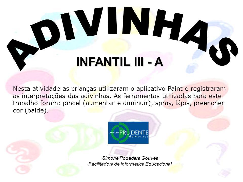 Simone Podadera Gouvea Facilitadora de Informática Educacional
