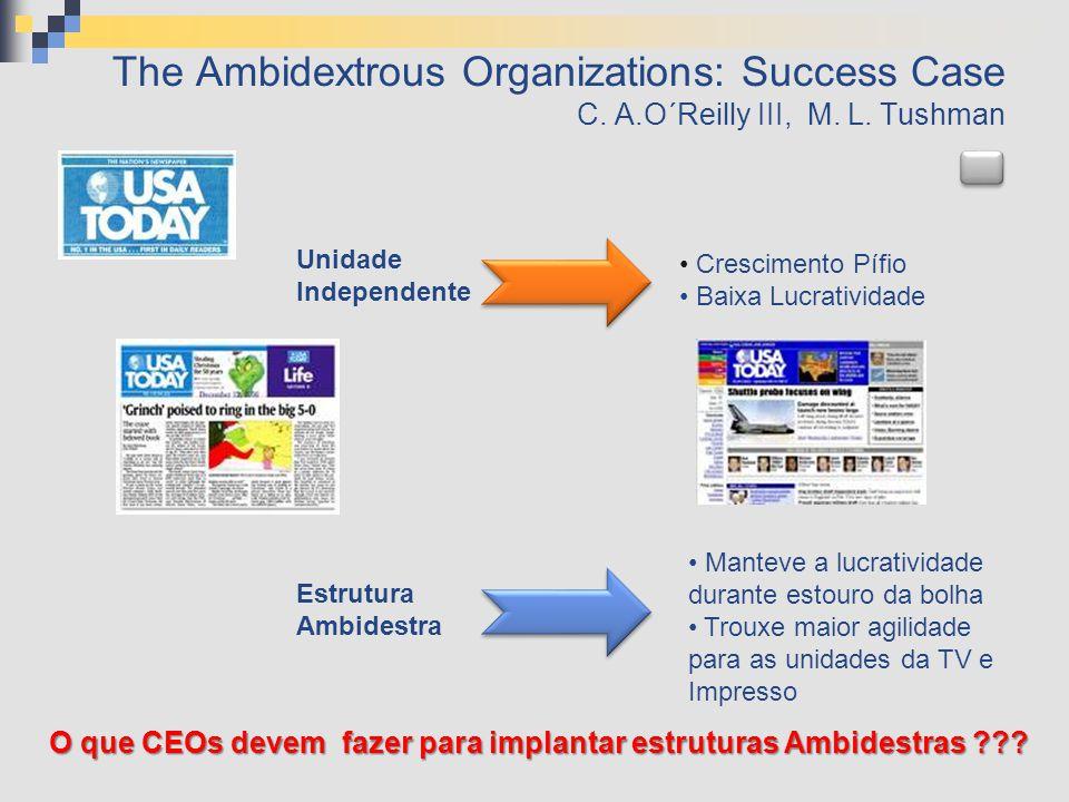 O que CEOs devem fazer para implantar estruturas Ambidestras