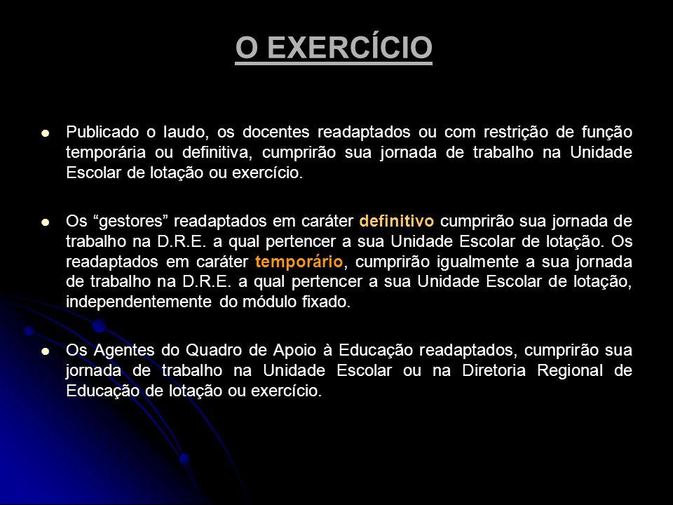 O EXERCÍCIO