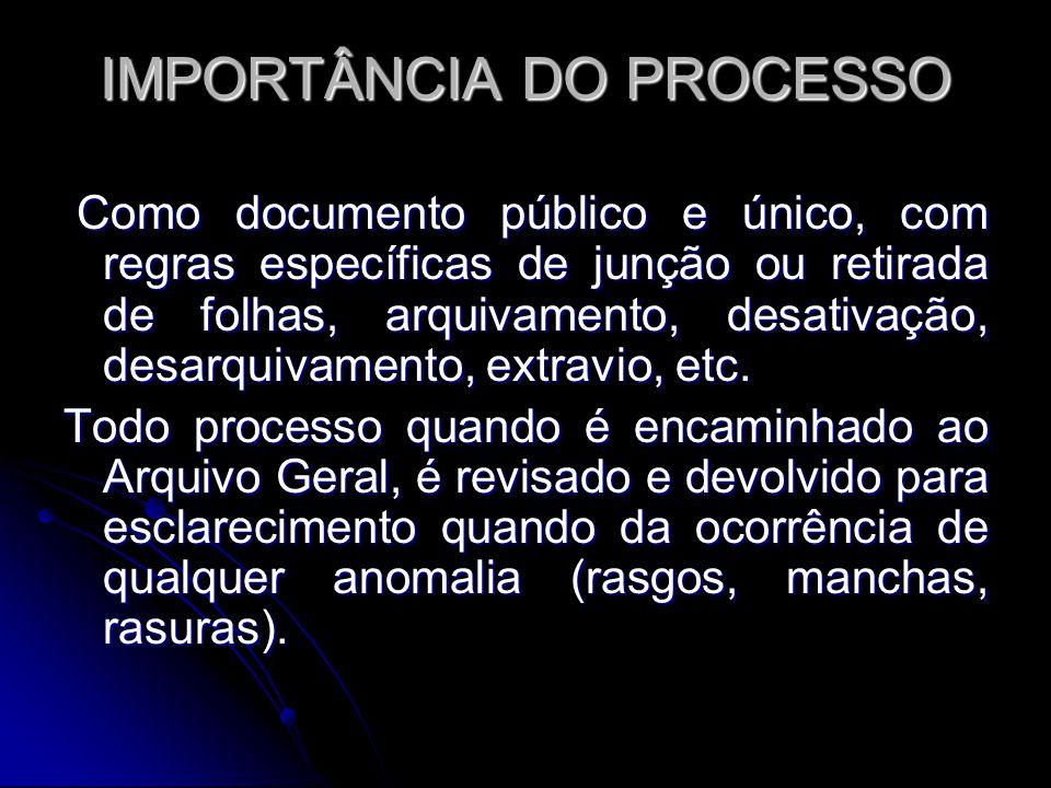 IMPORTÂNCIA DO PROCESSO
