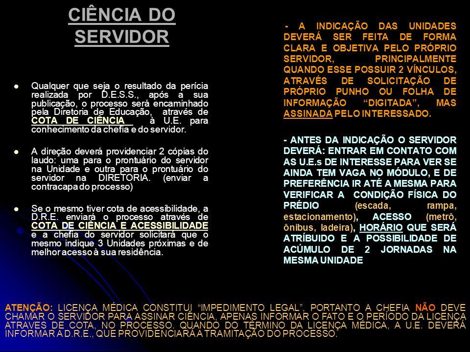 CIÊNCIA DO SERVIDOR