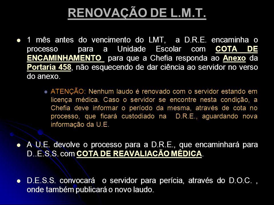RENOVAÇÃO DE L.M.T.