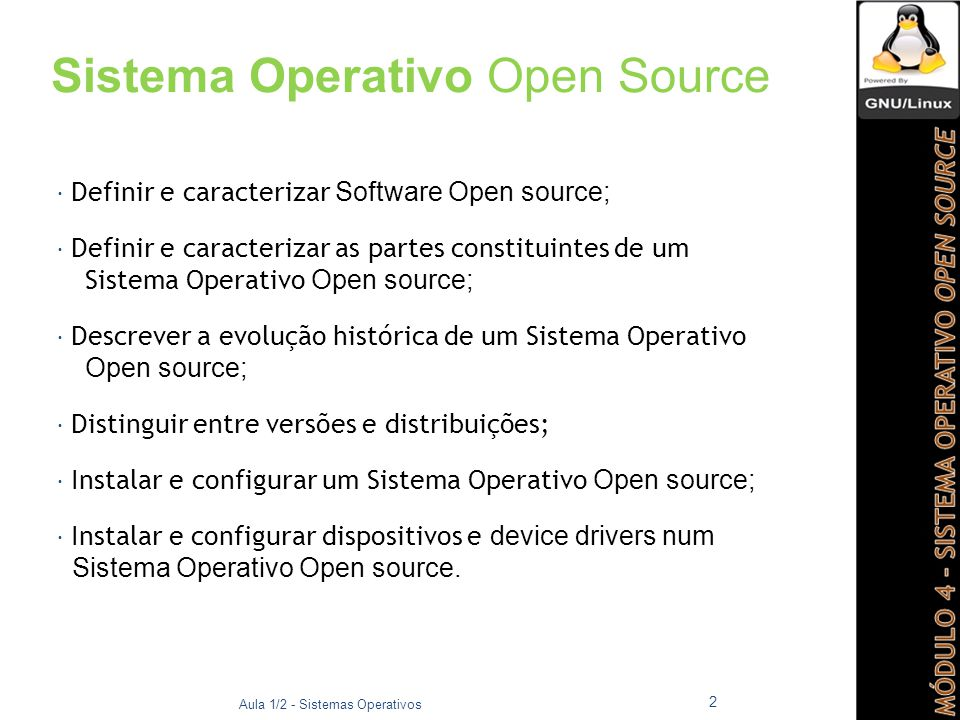 Sistema Operativo Open Source