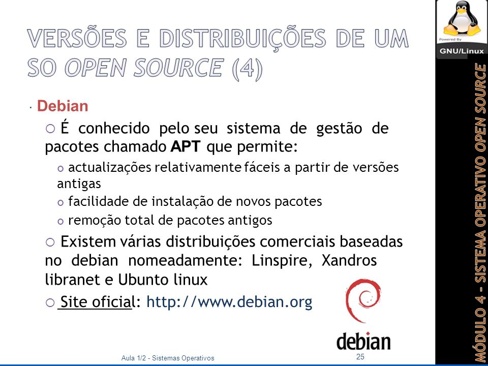  Site oficial: http://www.debian.org