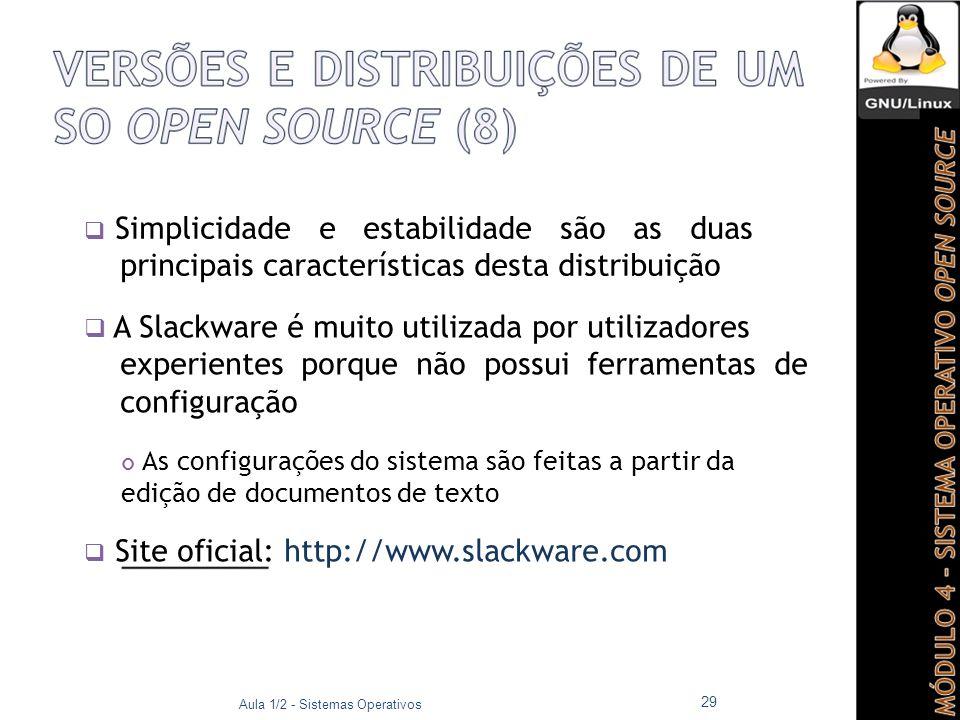  Site oficial: http://www.slackware.com