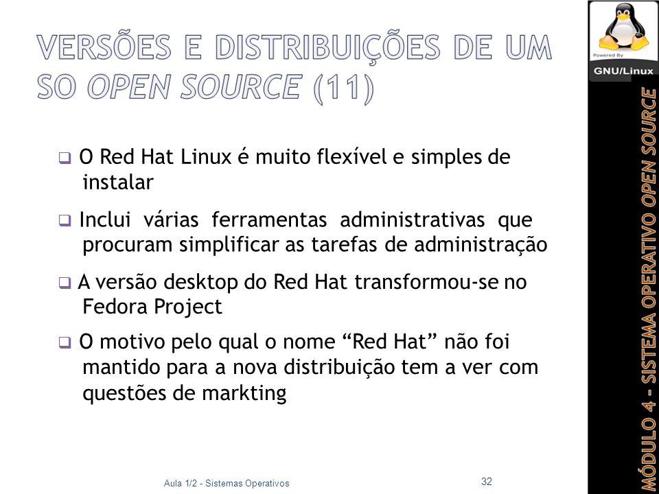  O Red Hat Linux é muito flexível e simples de instalar