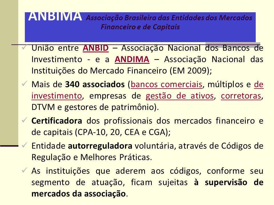 ANBIMA Associação Brasileira das Entidades dos Mercados Financeiro e de Capitais