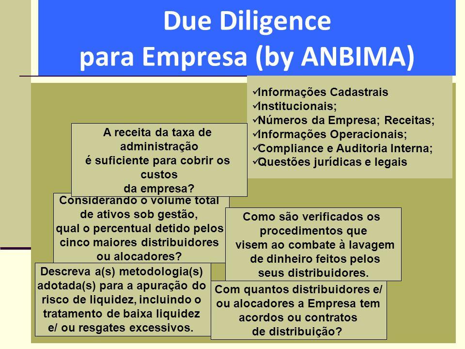 Due Diligence para Empresa (by ANBIMA)