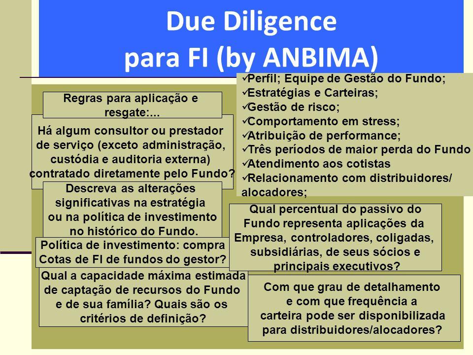 Due Diligence para FI (by ANBIMA)