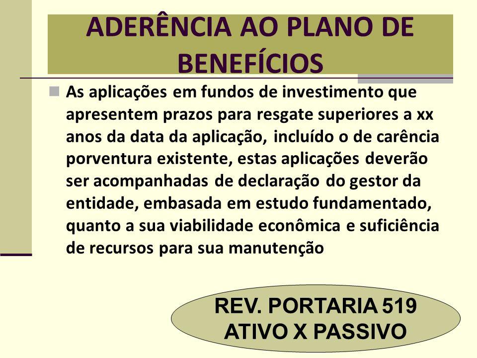ADERÊNCIA AO PLANO DE BENEFÍCIOS