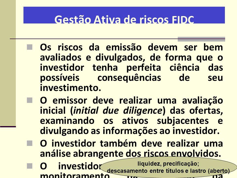 Gestão Ativa de riscos FIDC