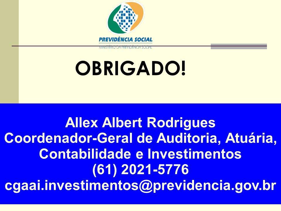 OBRIGADO! Allex Albert Rodrigues