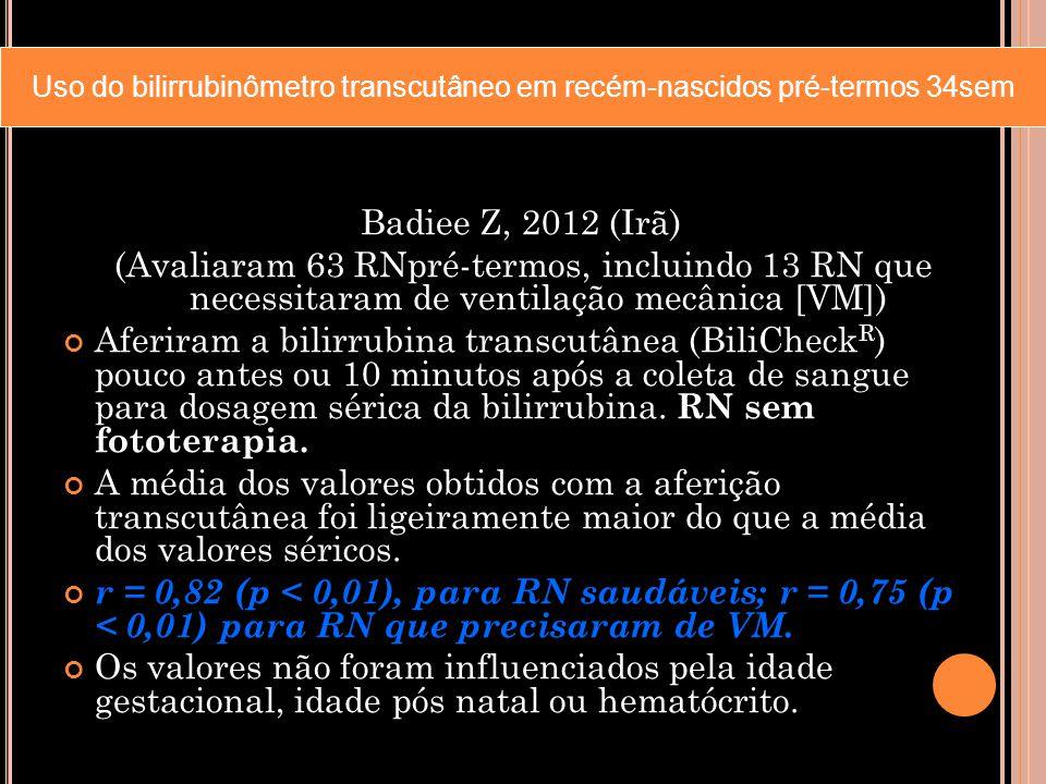 Uso do bilirrubinômetro transcutâneo em recém-nascidos pré-termos 34sem