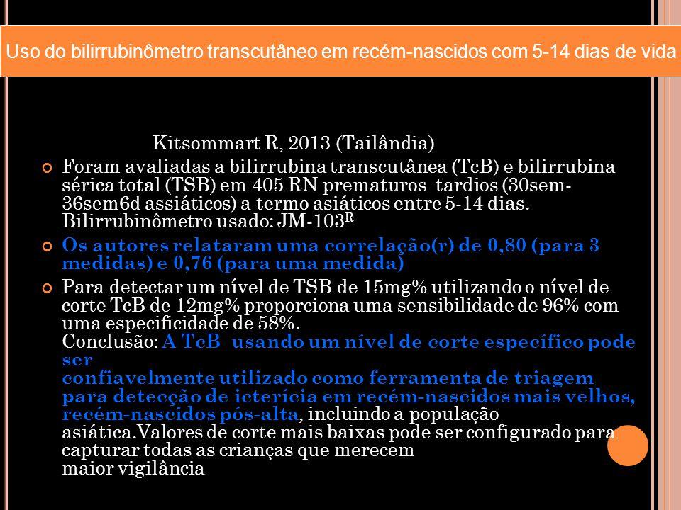 Uso do bilirrubinômetro transcutâneo em recém-nascidos com 5-14 dias de vida