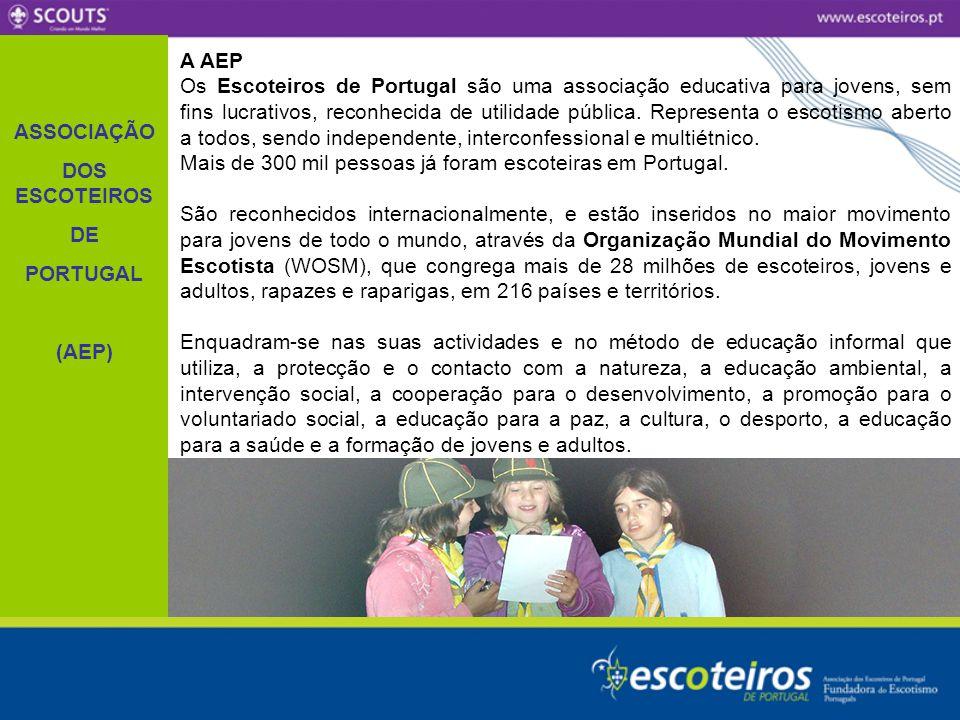 ASSOCIAÇÃO DOS ESCOTEIROS. DE. PORTUGAL. (AEP) A AEP.