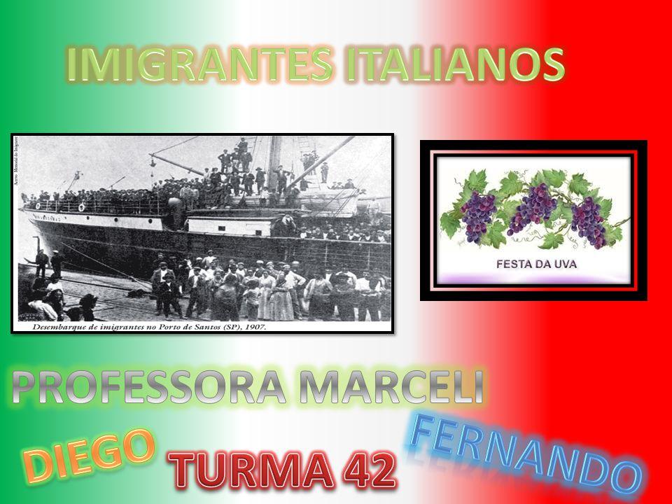 IMIGRANTES ITALIANOS PROFESSORA MARCELI DIEGO fernando TURMA 42