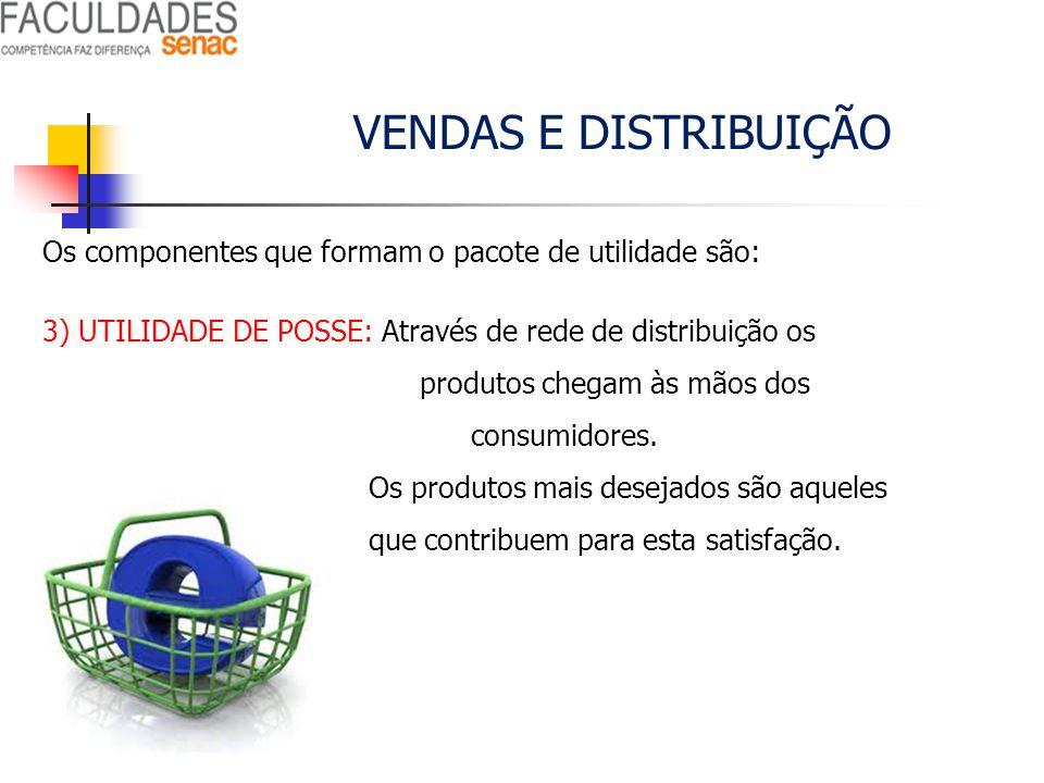 VENDAS E DISTRIBUIÇÃO Os componentes que formam o pacote de utilidade são: